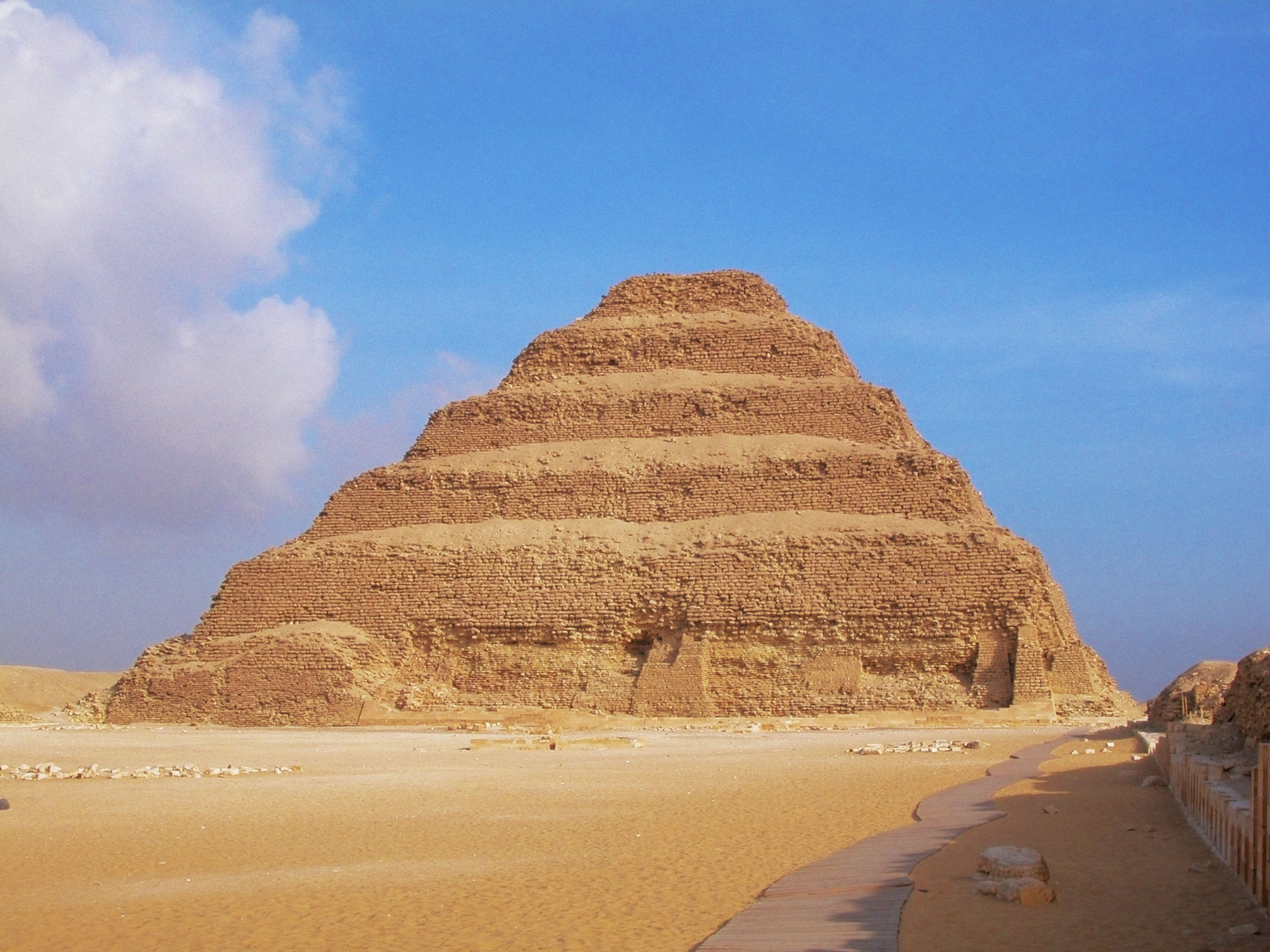 The Step Pyramid Of Zoser, Saqqara, Egypt