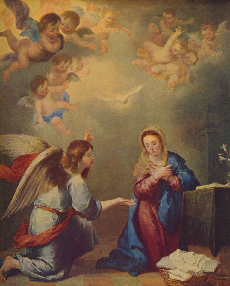 'La Anunciacion', (The Annunciation), 1660, (C1934)