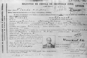 Nazi war criminal Adolf Eichmann's Argentinian identity card.