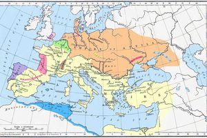 Hunnic Empire map