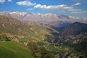 Dena mountain in the Zagros mountains.