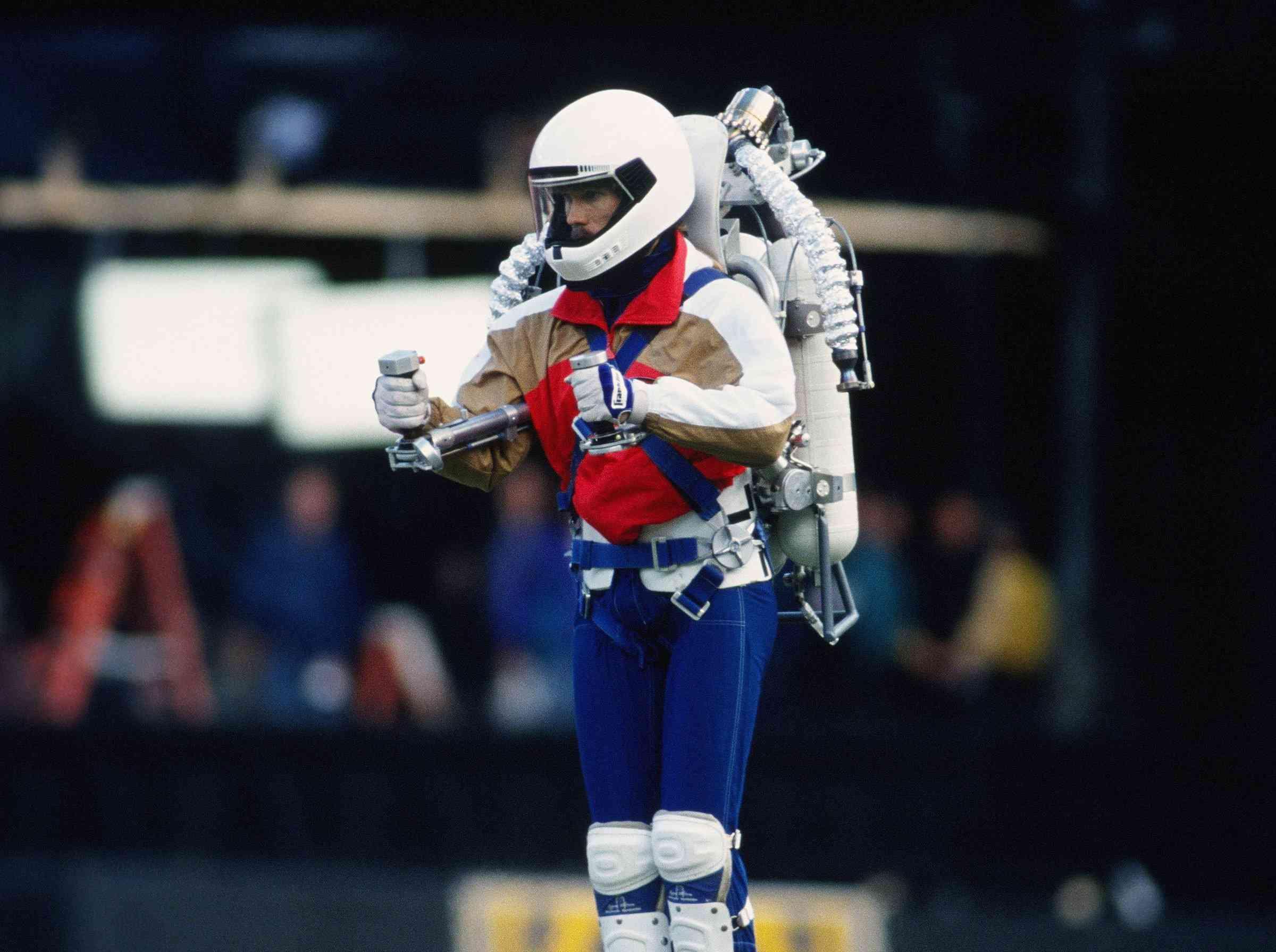 """Rocket Man"" using the Rocket Belt"
