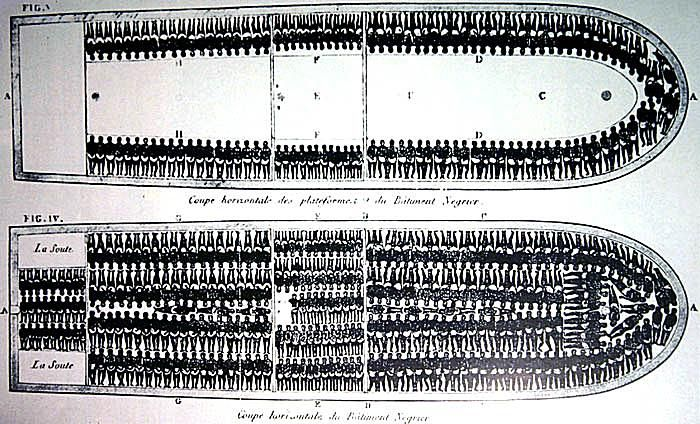 Plans of Slave Decks, Slave Ship Brookes