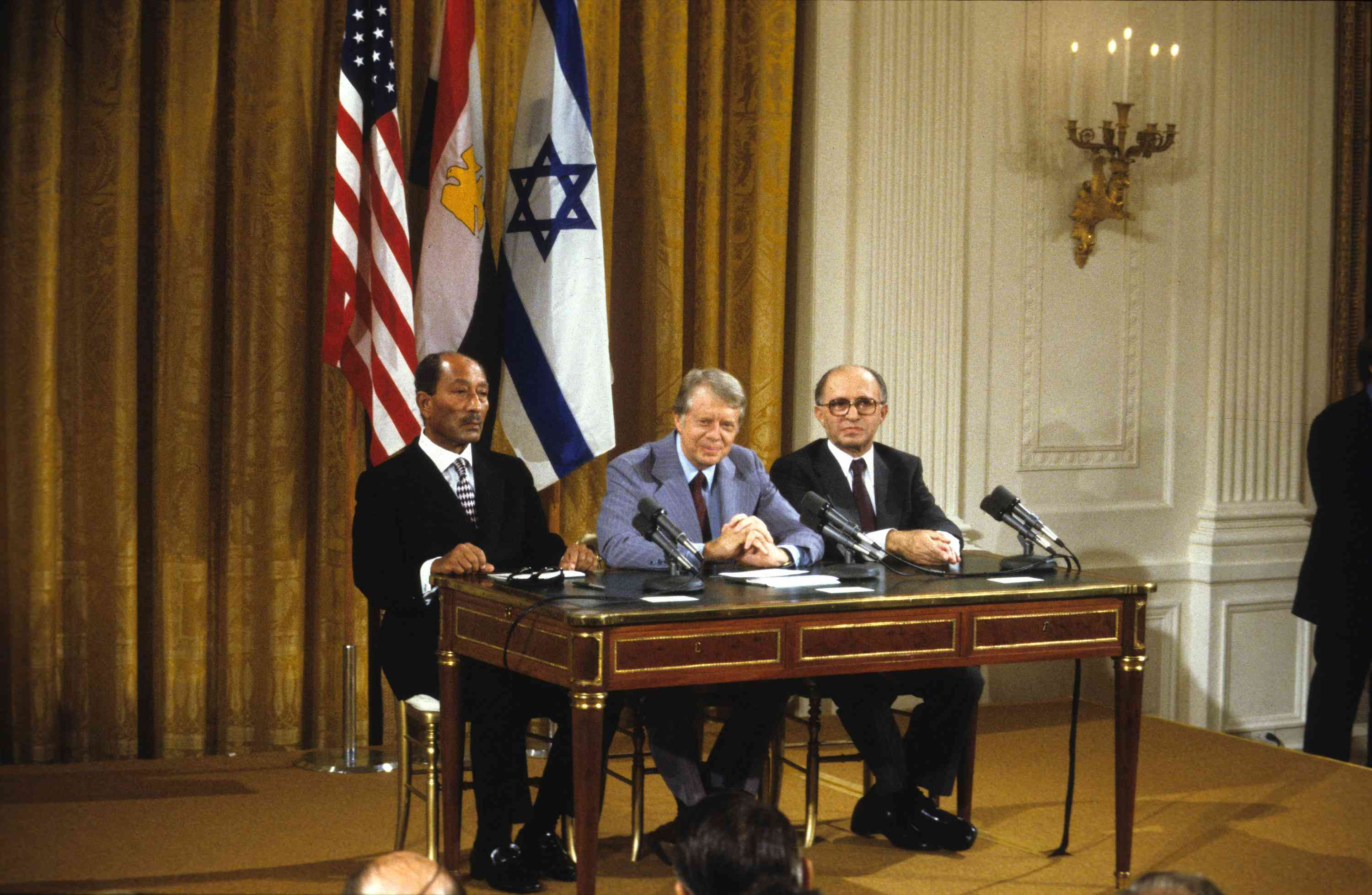 Sadat, Carter, and Begin in the White House
