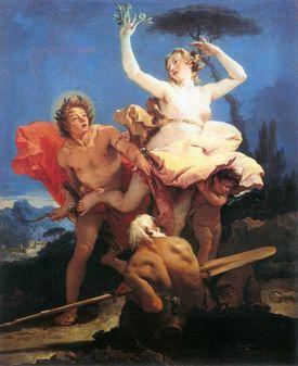 Apollo Chasing Daphne, by Gianbattista Tiepolo