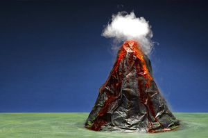 Volcano eruption science project