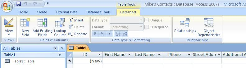 Add Tables To Your Access Database