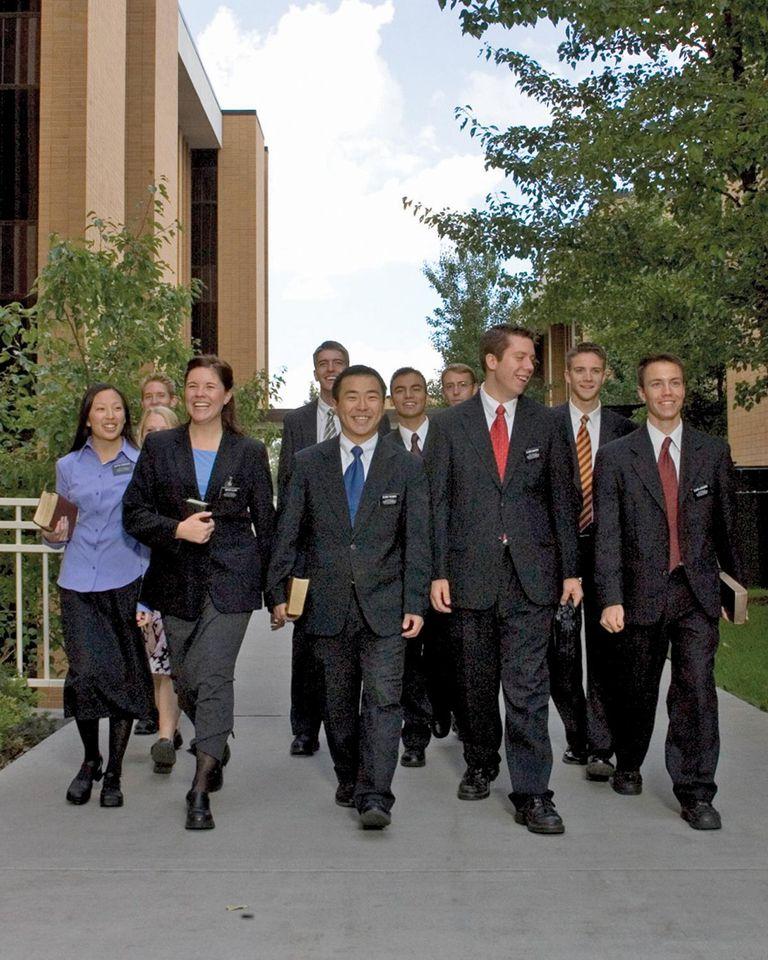 Missionaries at the Provo, Utah MTC.