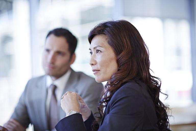 Uncertain Businesswoman