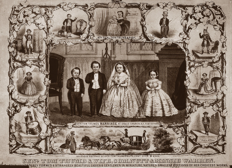 Print depicting the wedding of General Tom Thumb