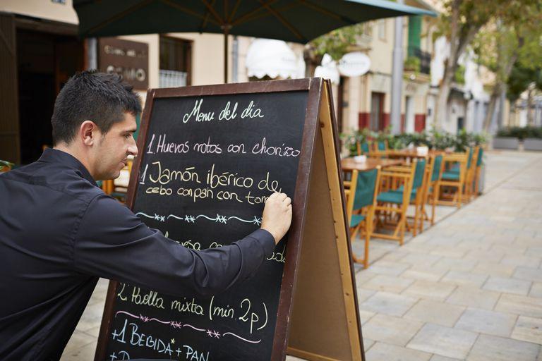 Writing a menu