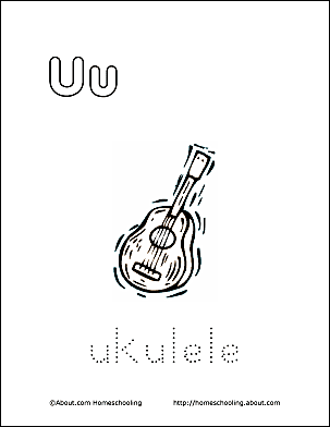 Print The Pdf Ukulele Coloring Page And Color Picture
