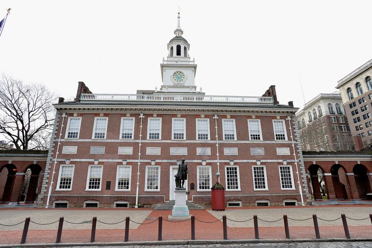 Exterior photo of Independence Hall in Philadelphia PA