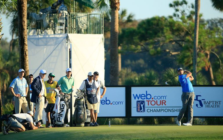 A general view of the first tee box during the second round of the Web.com Tour Championship held at Atlantic Beach Country Club on September 29, 2017 in Atlantic Beach, Florida