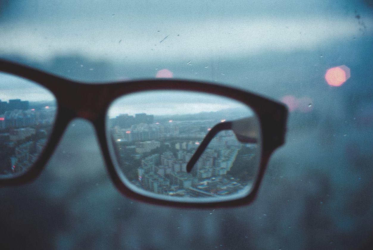 Fokus innerhalb der Brille