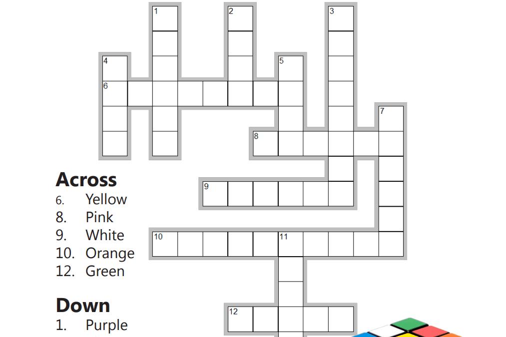 Spanish colors crossword puzzle