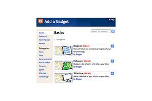 Add a gadget screenshot