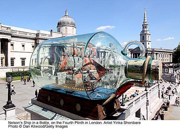 Nelson's Ship in a Bottle on the Fourth Plinth in Trafalgar Square - Yinka Shonibar