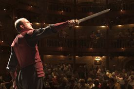 A man performing Shakespeare