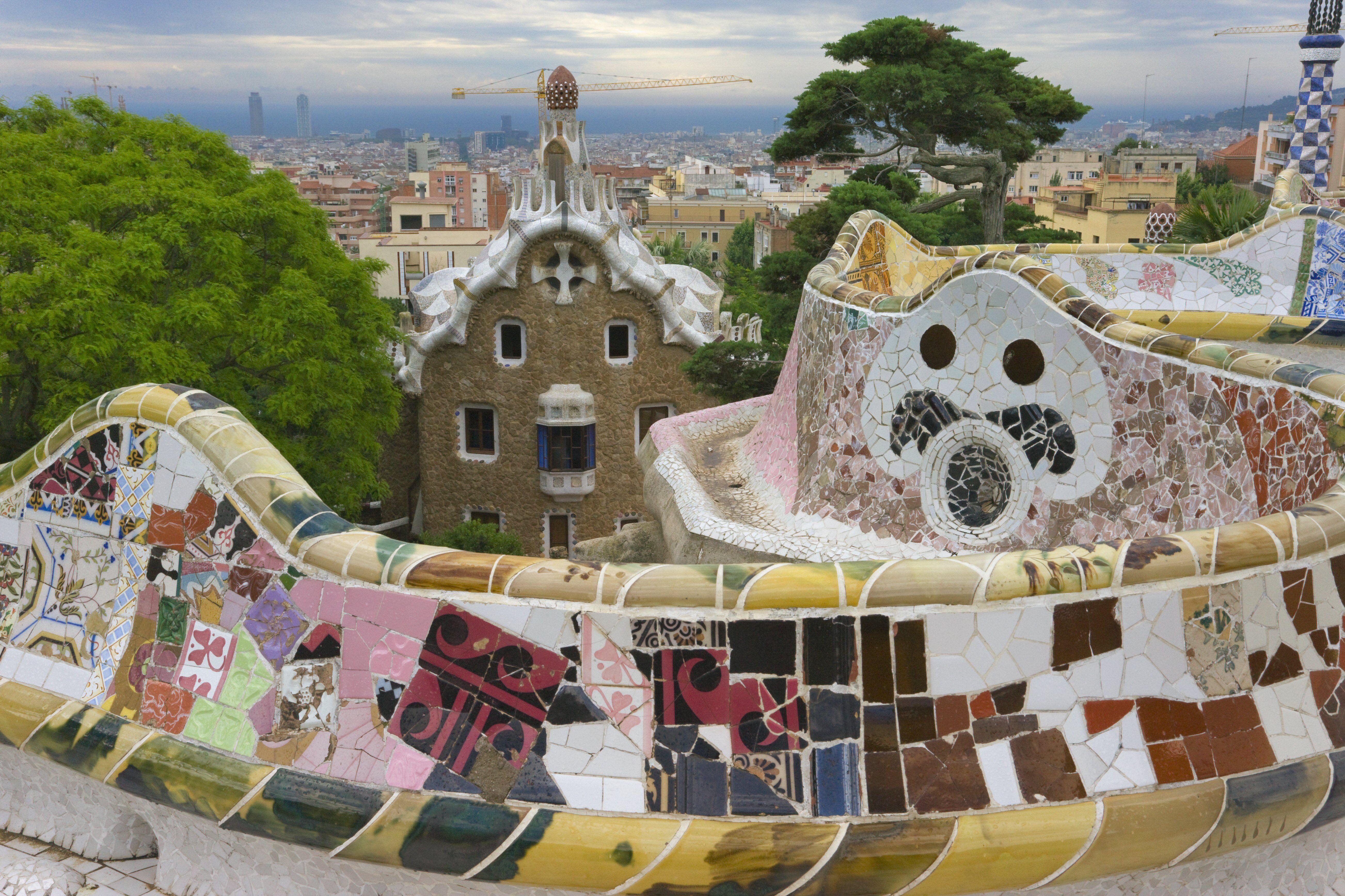 Parque Güell by Antoni Gaudí in Barcelona, Spain