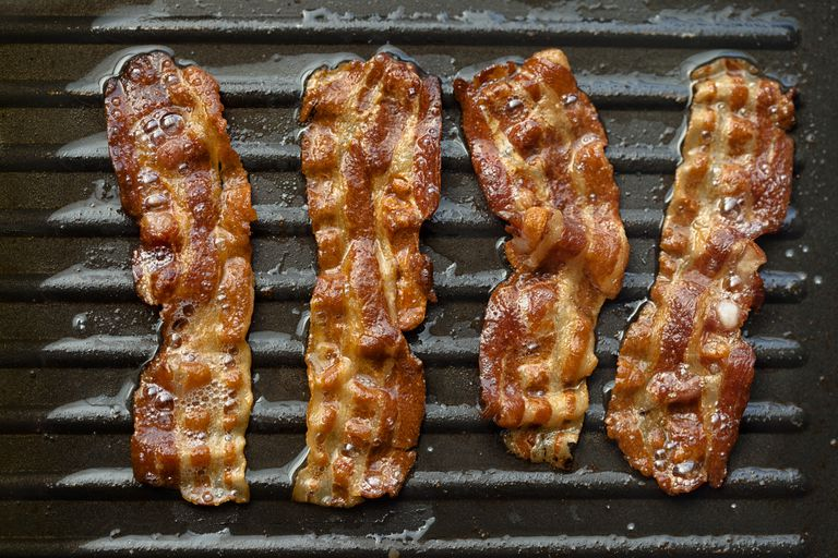 Bacon in pan