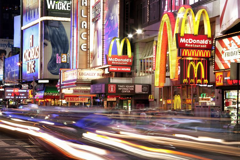 USA, New York, Manhattan, Times Square, illuminated billboards, night