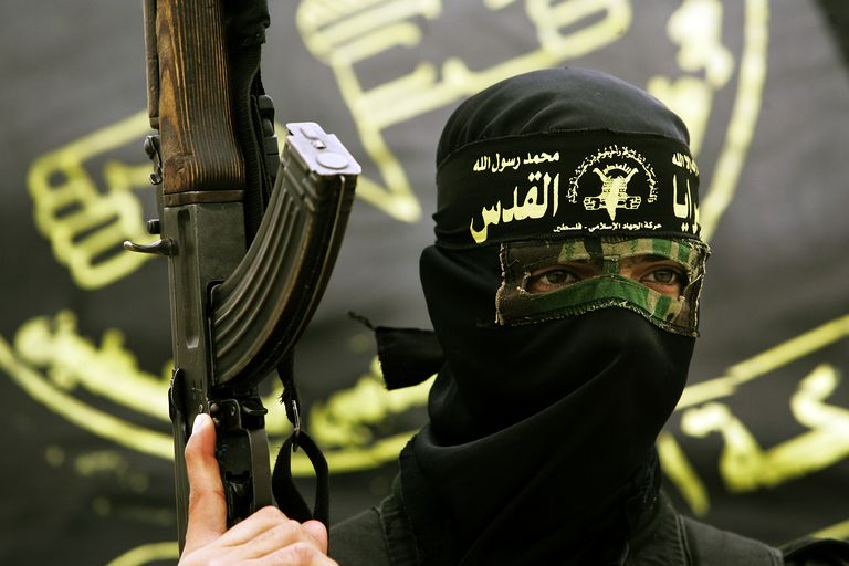 An Islamic Jihad militant in Khan Younis, Gaza Strip in 2010.