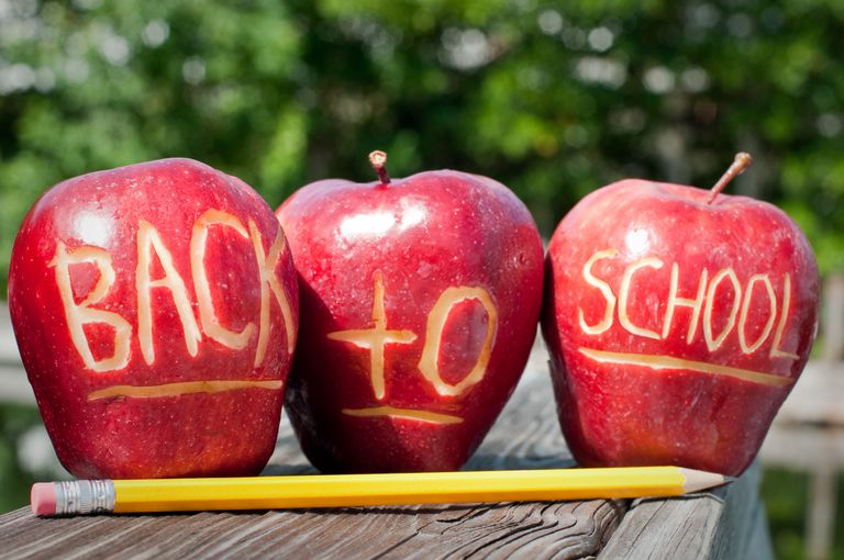 Back to school apples