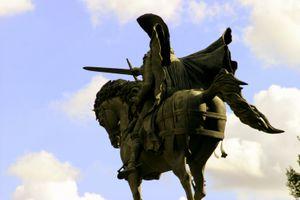 The statue of El Cid in Burgos, Spain