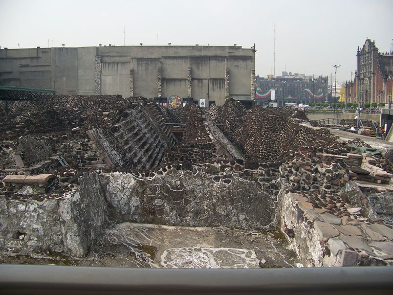 Ruins of Tenochtitlan in Mexico City