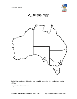 Map Of Australia With States And Territories And Capital Cities.Australia Outline Map Territory Full Size Northern Territory