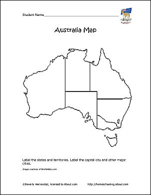australia outline map
