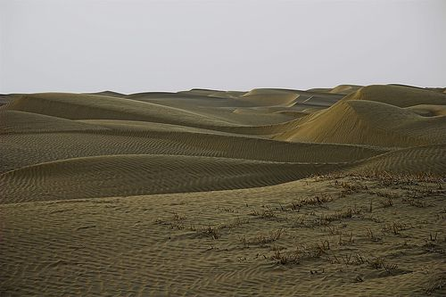 Taklamakan Desert on the Silk Road