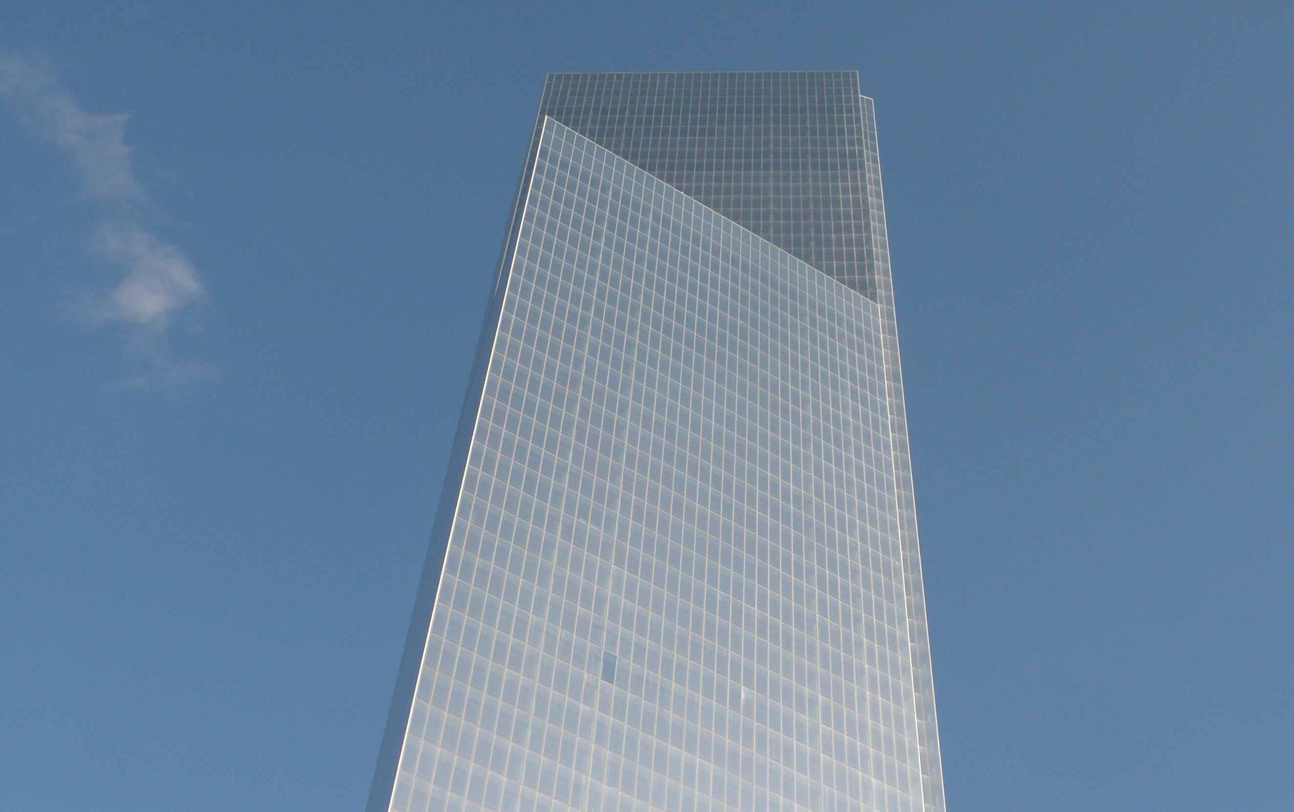Cuatro World Trade Center en el Bajo Manhattan, septiembre de 2013