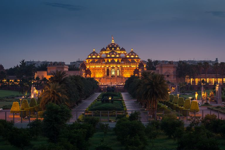 Swaminarayan Akshardham temple, the largest Hindu temple in the world