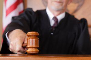 judge bringing down a gavel