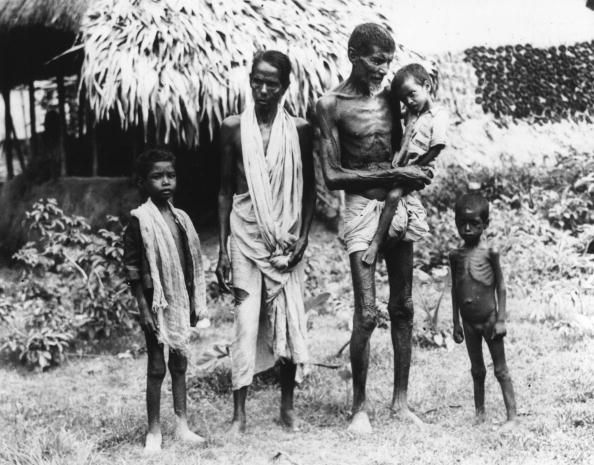 Family of victims, Bengal Famine in India, taken Nov. 21, 1943