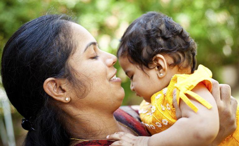 Indian mother with a baby