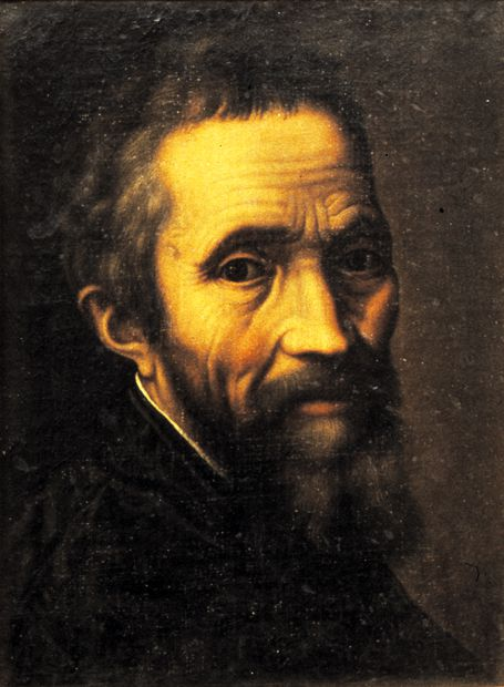 Portrait of Michelangelo by Marcello Venusti (Casa Buonarroti, Florence; used with permission)