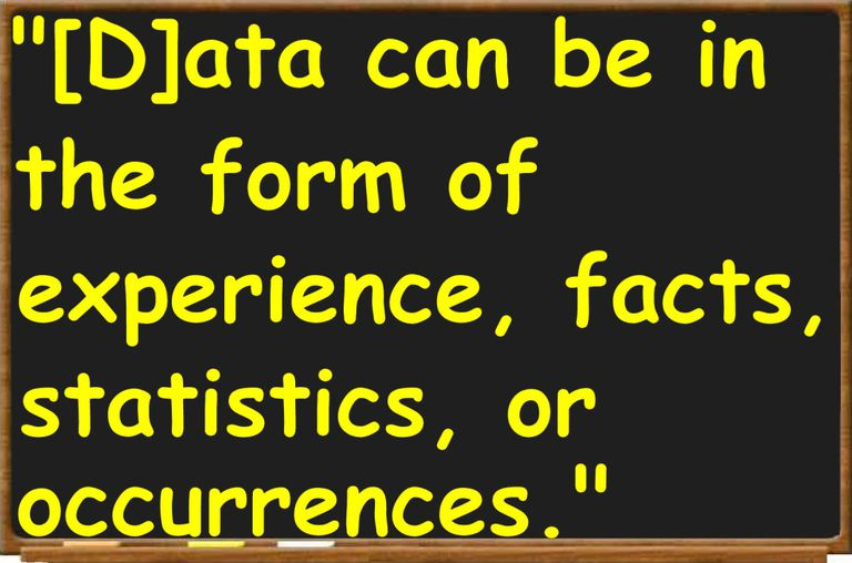 Data Definition And Examples Of Data In Argument
