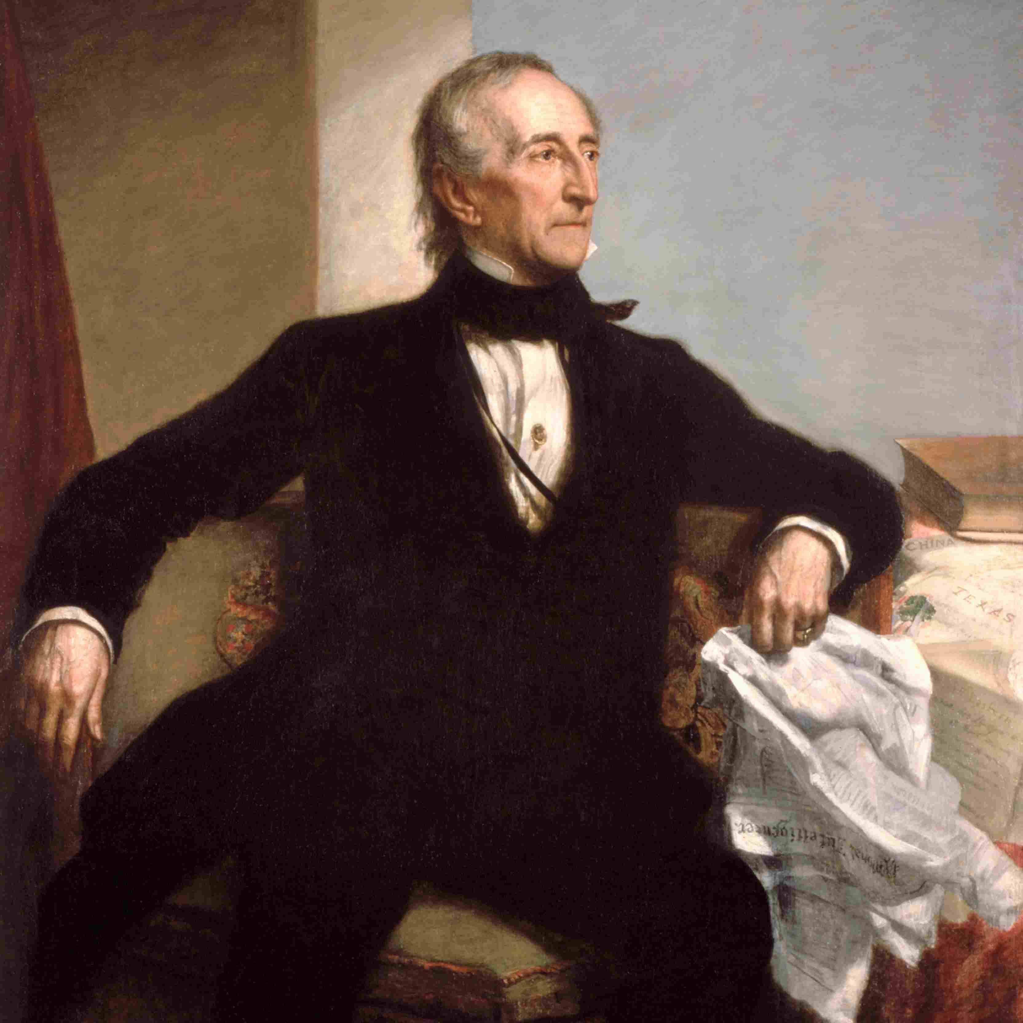 Portrait of president John Tyler