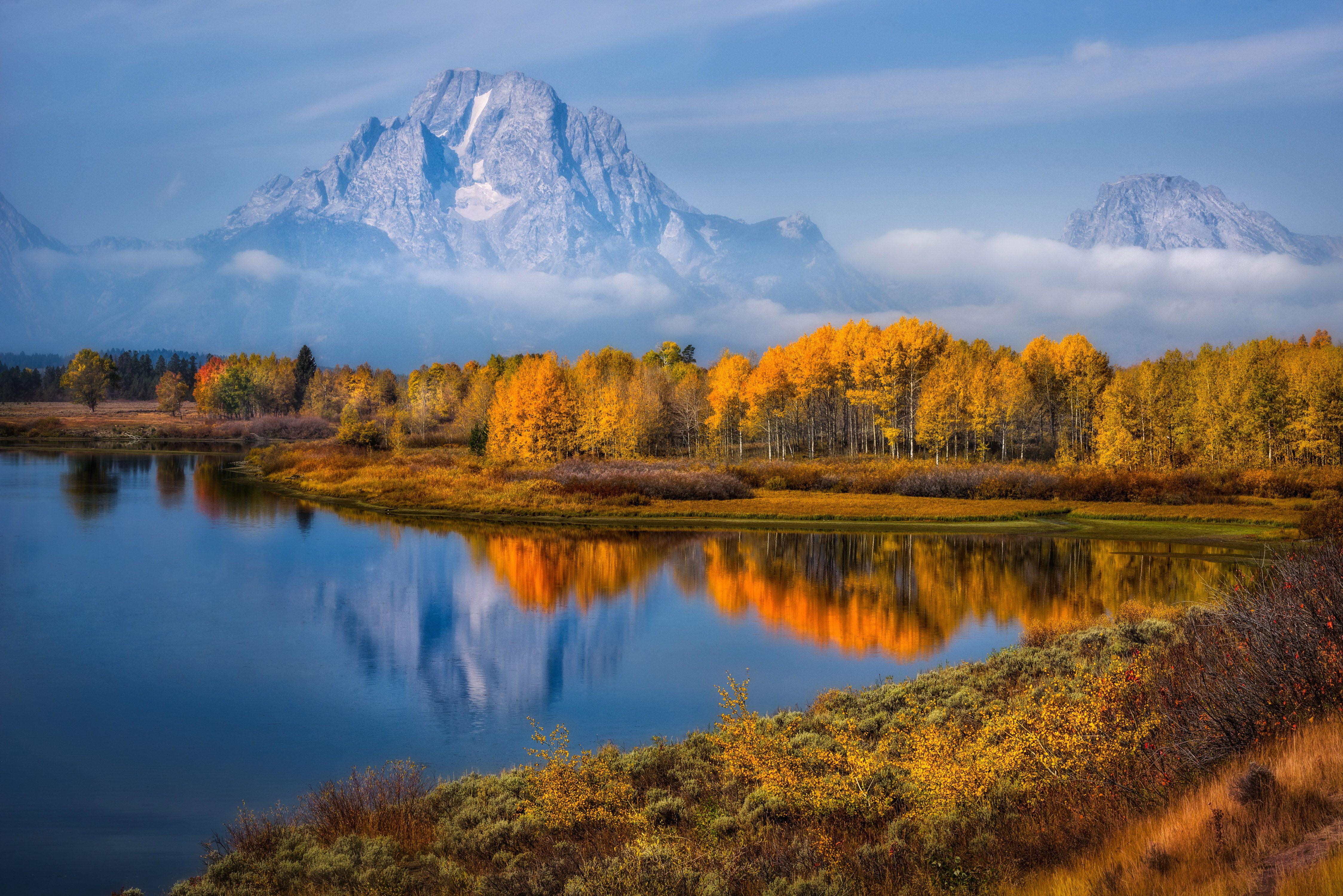 Fall Colors at Oxbow Bend, Grand Teton NP, Wyoming
