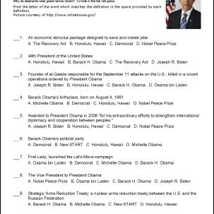 Barack Obama Challenge Worksheet
