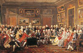 Reading Voltaire's tragedy L'Orphelin de la Chine at Madame Geoffrin's