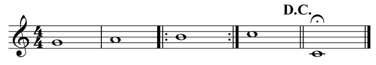 Use of Da Capo al fine prevents the need to write out extra measures