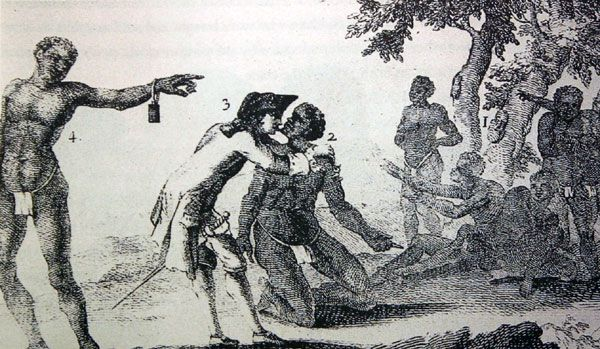 Testing an African Slave For Sickness