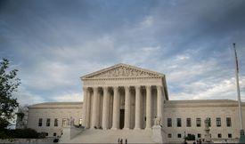 Us Supreme Court Building Against Cloudy Sky