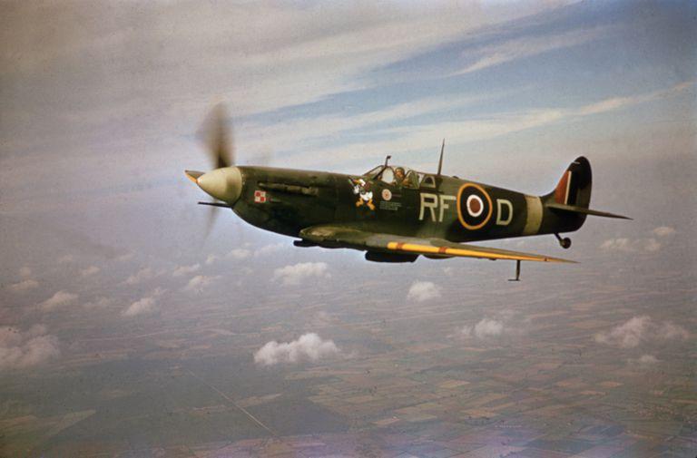 A Supermarine Spitfire Mk.Vb, RF-D, flown by pilot Jan Zumbach (1915 - 1986)