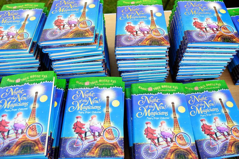 "Mary Pope Osborne Signs Her ""Magic Tree House Series"""