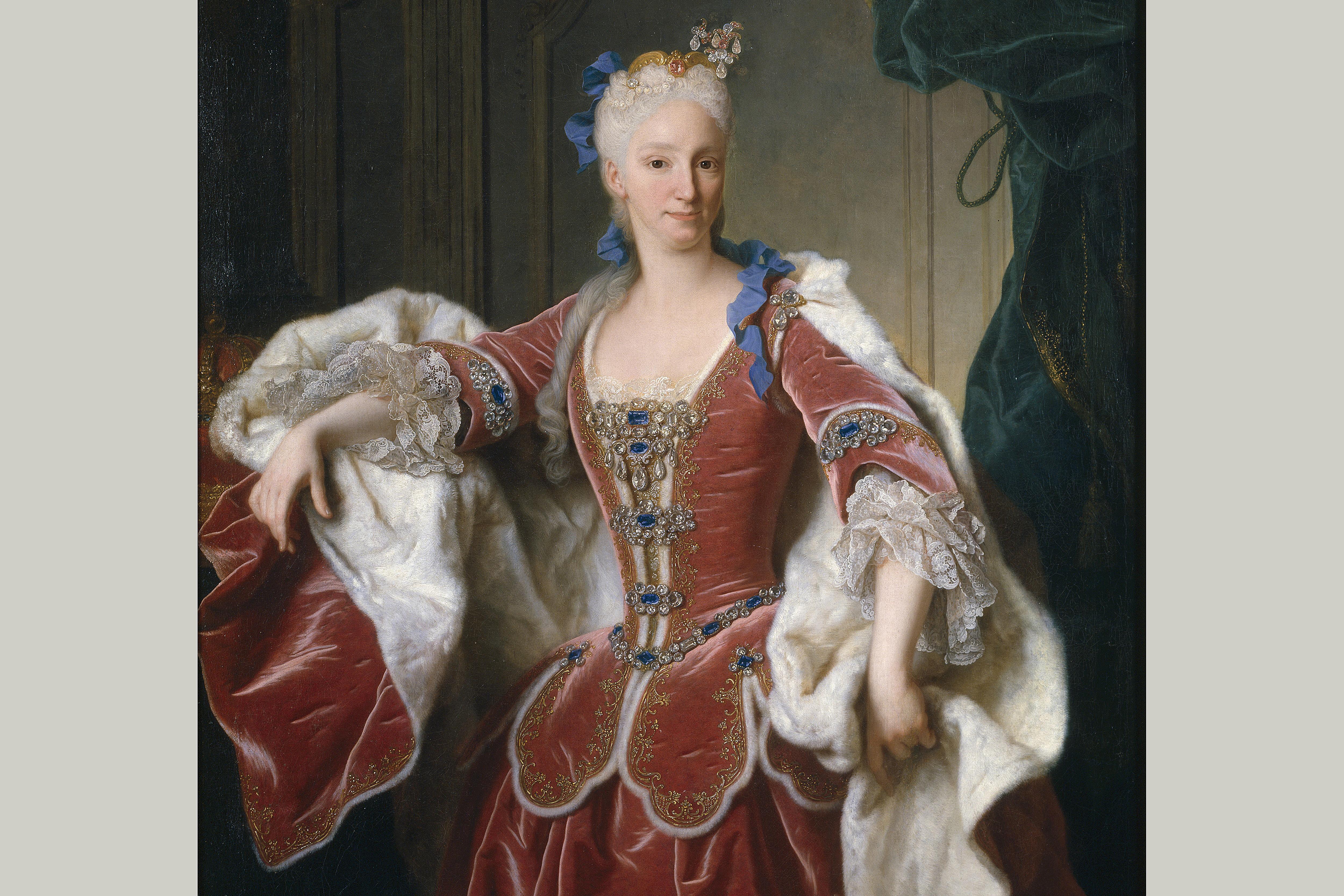 Elisabeth Farnese, Queen of Spain, from a 1723 portrait by artist Jean Ranc